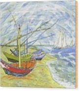 Boats At St. Maries Wood Print