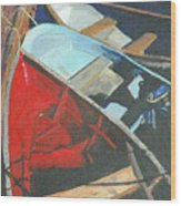 Boats At The Dock Wood Print