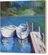 Boats Docked Wood Print