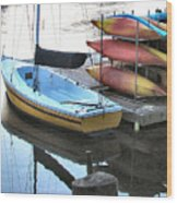 Boats For Rent Wood Print