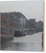 Copenhagen Waterway Wood Print