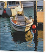 Boats In Morro Bay California Wood Print