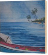 Boats In The Caribbean Wood Print