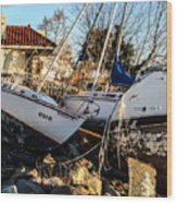 Boats Of Sandy Wood Print