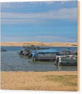 Boats On Silver Lake Michigan Wood Print