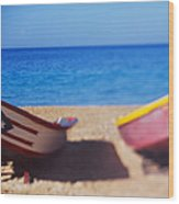 Boats On The Beach, Aguadilla, Puerto Wood Print