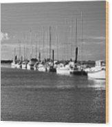 Boats On The Estuary Wood Print