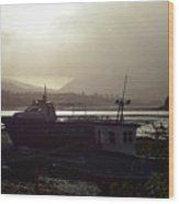 Boats, Portree, Isle Of Skye Wood Print