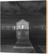 Boatshed Wood Print