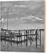 Boatworks 4 Wood Print