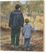 Bob And Alex Wood Print