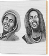 Bob And Bob Marley Wood Print