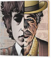 Bob Dylan - Man vs. Myth Wood Print