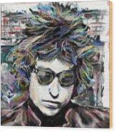 Bob Dylan Art Wood Print