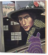 Bob Dylan Surreal Desert Wood Print