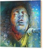 Bob Marley 10 Wood Print