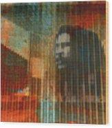 Bob Marley Abstract II Wood Print