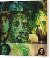 Bob Marley Wood Print by Ankeeta Bansal