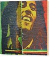 Bob Marley Door At Pickles Usvi Wood Print