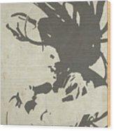 Bob Marley Grey Wood Print
