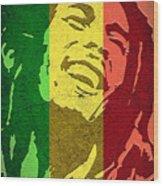 Bob Marley I Wood Print