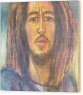 Bob Marley II Wood Print
