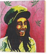 Bob Marley Wood Print by Kristi L Randall