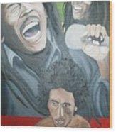 Bob Marley Montage Wood Print