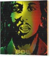 Bob Marley Print Wood Print
