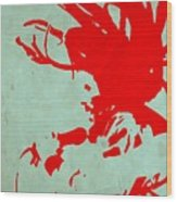 Bob Marley Red Wood Print