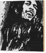 Bob Marley Silhouette   Wood Print