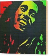 Bob Marley Smile Wood Print