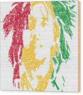 Bob Marley Typography  Wood Print