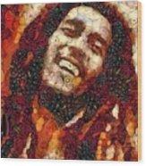 Bob Marley Vegged Out Wood Print