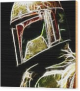 Boba Fett Wood Print by Paul Ward