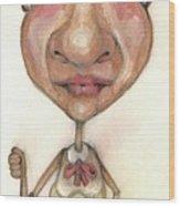 Bobblehead No 33 Wood Print