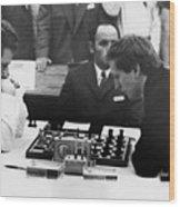 Bobby Fischer (1943-2008) Wood Print