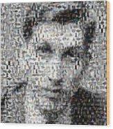 Bobby Fischer Chess Mosaic Wood Print by Paul Van Scott