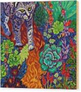 Bobcat Kachina  Wood Print