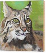 Bobcat Katta Wood Print