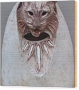 Bobcat Stone Wood Print by Gaylon Dingler