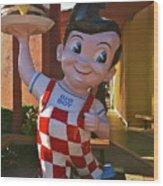 Bob's Big Boy Welcomes You Wood Print