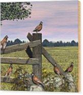 Bobwhite Quail Wood Print