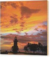 Boca Chita Sunset Wood Print