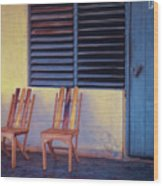 Boca De Yumuri Porch Wood Print