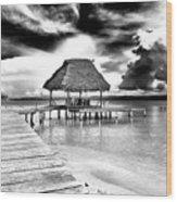 Bocas Del Drago Clouds In Panama Wood Print
