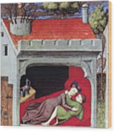 Boccaccio: Lovers, C1430 Wood Print