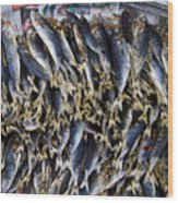 Bodboron Filipino Dried Fish Wood Print