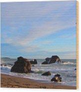 Bodega Bay Sunset Wood Print