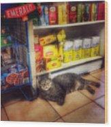 Bodega Cat - At Home In New York Wood Print